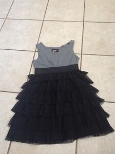 Size 12 black and grey girls dress
