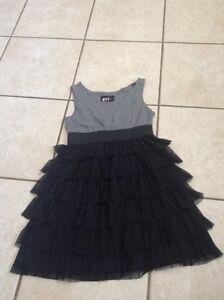 Size 12 black and grey girls dress Gatineau Ottawa / Gatineau Area image 1