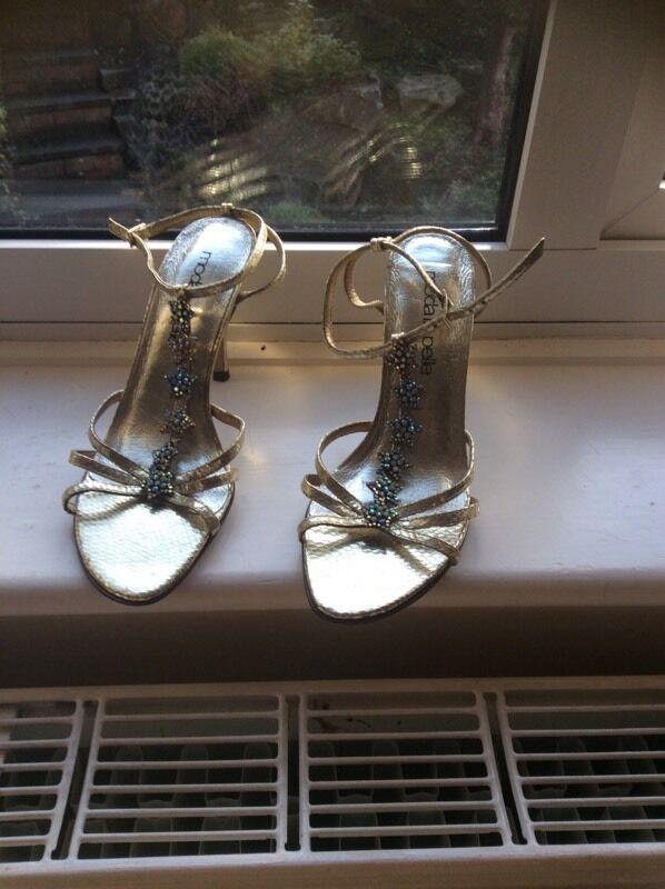 Gold coloured sandals