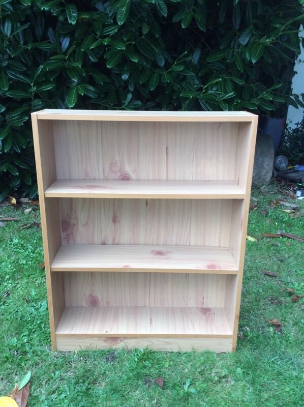 Children's Beech Effect Two Shelf Bookcase
