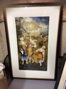 """Limited Edition Signed Serigraph """"Apple Pickers"""