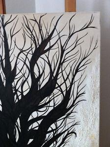 Original Oil Painting Artwork Oak Childhood by Des Rosiers 30x30 Peterborough Peterborough Area image 5