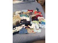 Huge bundle of newborn boys clothes
