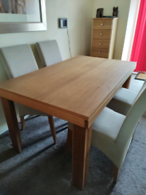 Solid Wood Dining Table and 4 Chairs - Immaculate.