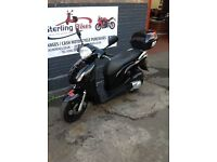 Honda PS125 PS 18K Mileage 1 YEAR MOT AND TOP BOX STERLING