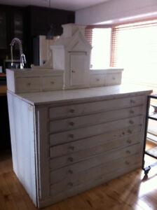 meuble antique église/buffet/commode en bois
