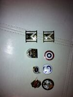 Lot of 8 Canadian curling lapel pins