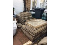 Indian Sandstone Pavers - approx 23 sq m