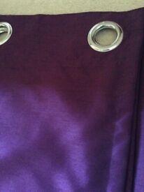 Aubergine/Purple faux silk curtains