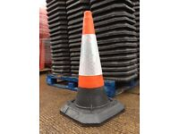 "***New 30"" 750mm Heavy Duty Road Traffic Cones with Reflective strip £4.80inc vat.***"