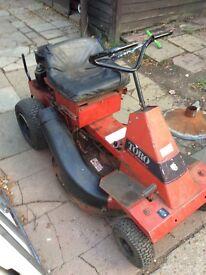 Toro ride on mower spare or repairs