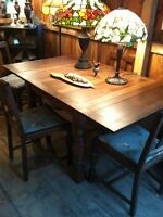 Antique Dining Table and 4 chairs