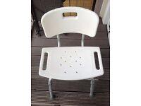 Chair shower chair white sturdy bath chair medical appliance chair