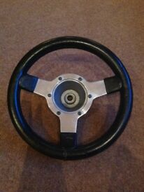 Mountney leather steering wheel