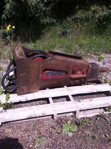 Allied hammer breaker. 730  Wain Roy attach backhoe excavator.