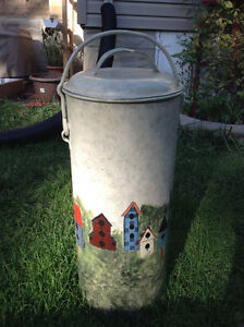 Antique metal creamery can - hand-painted Stratford Kitchener Area image 1