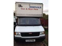 Ldv box van with tail lift
