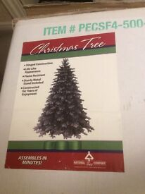 6ft Artificial Christmas Tree with decorations and lights
