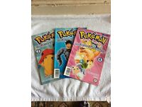 3 Pokemon comics - the electric tale of pikachu part 2,3 & 4 great condition very rare & collectible