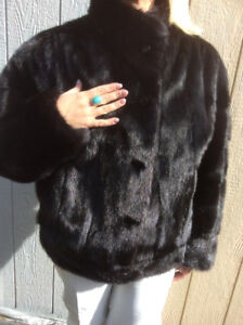 Fur and Leather Reversible Jacket Black