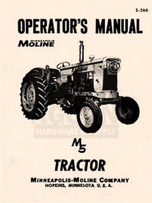 Minneapolis Moline M5 M 5 Operator Maintenance Manual
