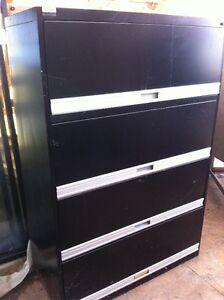 classeur 4 tiroirs, noir