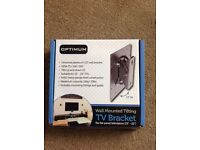 Tv tilting wall mounted bracket