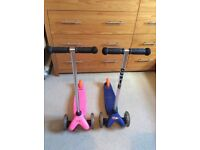 2x micro scooters vgc