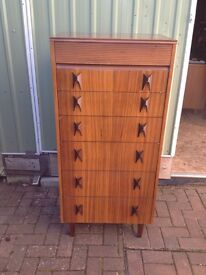 Tall Retro Chest of 7 Drawers