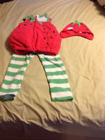 Size 4-5 Strawberry Costume