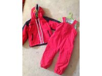 Unisex Columbia sports wear jacket and trousers age 2-3 years