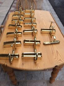15 pairs of Brass Door Handles