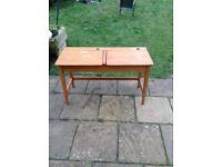 Double child's wooden desk