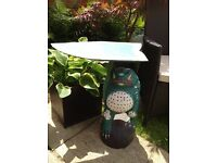 Painted wooden frog design patio/ conservatory side table