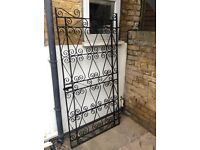 Garden gate, black iron/metal, single