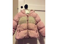 Pink padded coat 9-12 months £2