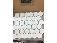 Hexagonal ceramic floor and wall tiles