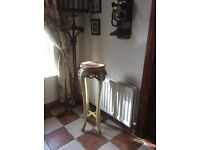 Heavy ornate marble top lamp / plant stand