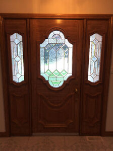 Beautiful Steel Door With Beveled Glass and SideLights & Frame