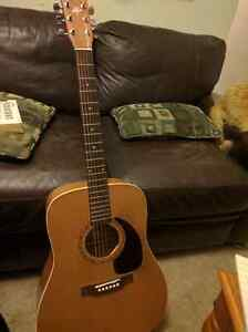 Art and Luthrie Wild Cherry Acoustic guitar with hard case