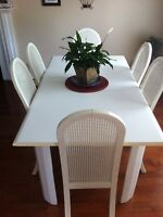 White 7 Piece Dining Set