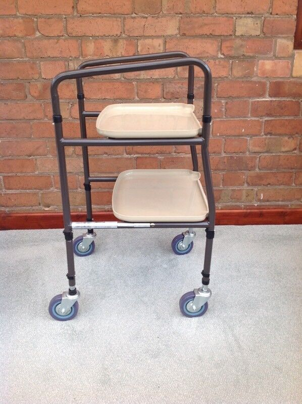 Wheeled trolley mobility aid