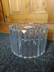 Cut glass effect lamp shade