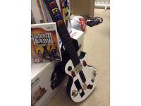 """wii guitar with """"Guitar hero 3 Legends Of Rock Disc"""""""