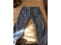 Vol jeans size 8 but more like a 10 lady's