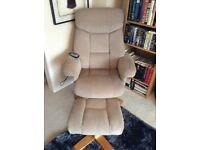 Fabric, electric massage chair