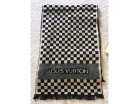 Louis Vuitton scarf. Cream and black checkered.