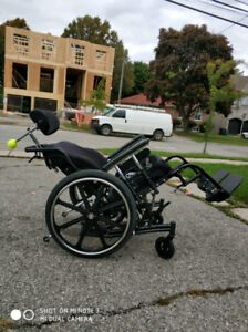 "Tilt Wheelchair 20""x18"" with ROHO cushion"