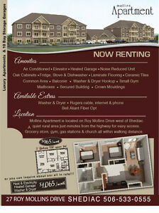 2 & 1 Bedroom Apartment with Garage**Power and Heat Incl. + AC