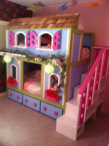 Cottage style bunk bed